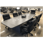 10 Feet Boat Shape Conference Table in Newport Gray