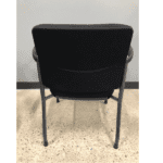 2904 Guest Chair Black Fabric - Titanium - Rear