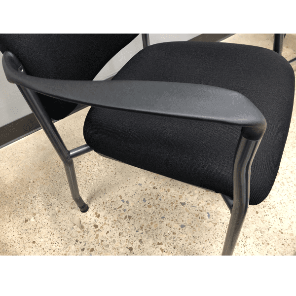 2904 Guest Chair Black Fabric - Titanium - closeup