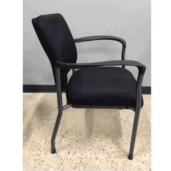 2904 Guest Chairs Black Fabric - Titanium - Side View