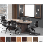 8 Feet Oval Shaped Conference Table - Walnut