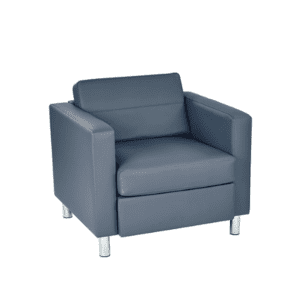 Gray Vinyl Contemporary Chair - Matching Loveseat & Sofa Available