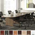 Oval Shaped Conference Table - Walnut