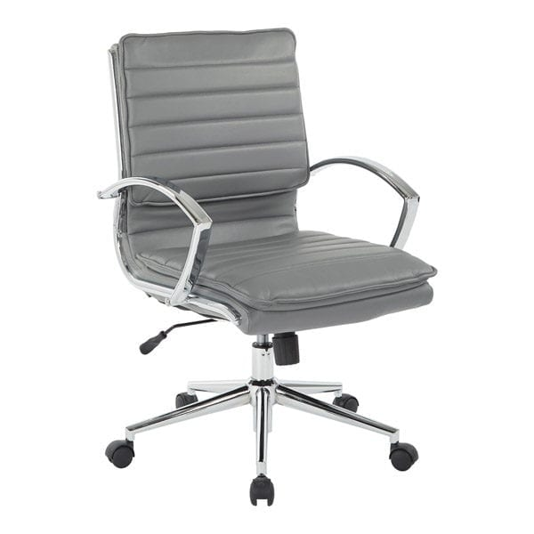 ofd-591c-ribbed-mid-back-chair-loop-arms-gray-faux-leather