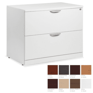 2-Drawer Lateral File - White - 8 Colors