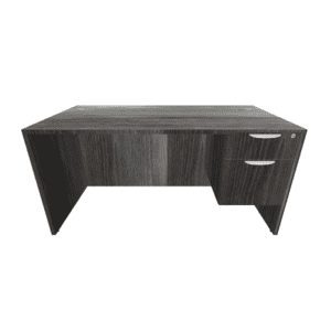 60 x 30 Laminate Desk with box/file pedestal - newport grey
