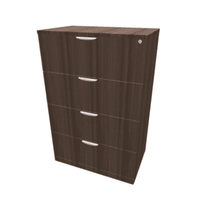Laminate 4 Drawer Lateral File - Walnut