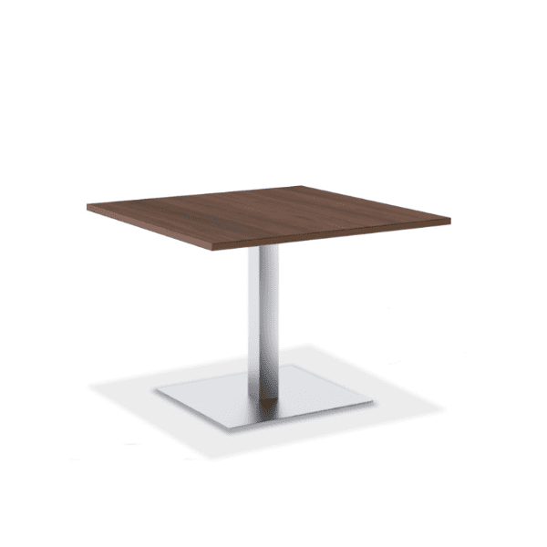 """36"""" & 42"""" Square Table with Brushed Aluminum Base"""
