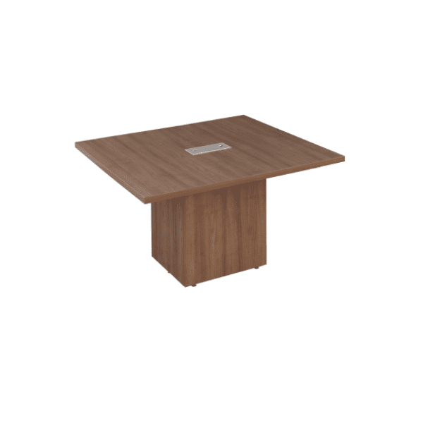 Walnut 4 x 4 Cubed Base Conference Table