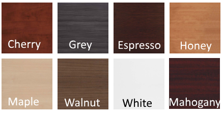 8 Stocked Color Finishes