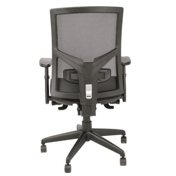 AR-1509 Black Mesh Task Chair - Rear
