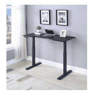All Black Computer Sit Stand Height Adjustable Desk