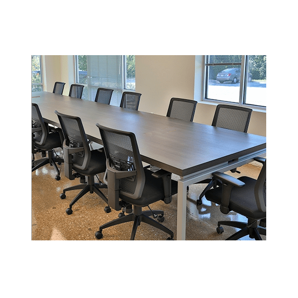 Bench iT Conference Table with Silver Base