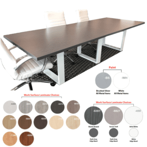 Rectangular Conference Table - 3 Stocked Colors - 13 Made to Order Laminates
