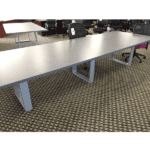 Connect iT 12' Conference Table - Burnt Strand Finish