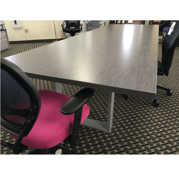Connect iT 12' Conference Table Closeup - Burnt Strand Finish