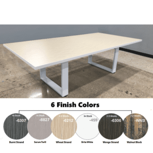 Connect iT 8' Conference Table - White - Wheat Strand Color - 6 Finishes