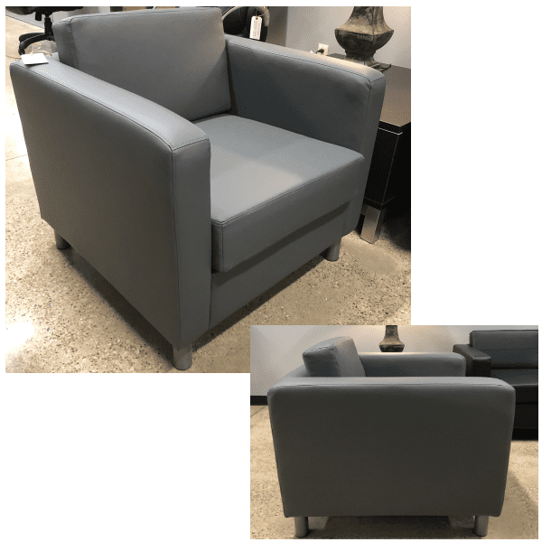 Contemporary Lounge Seating Club Chair - Gray