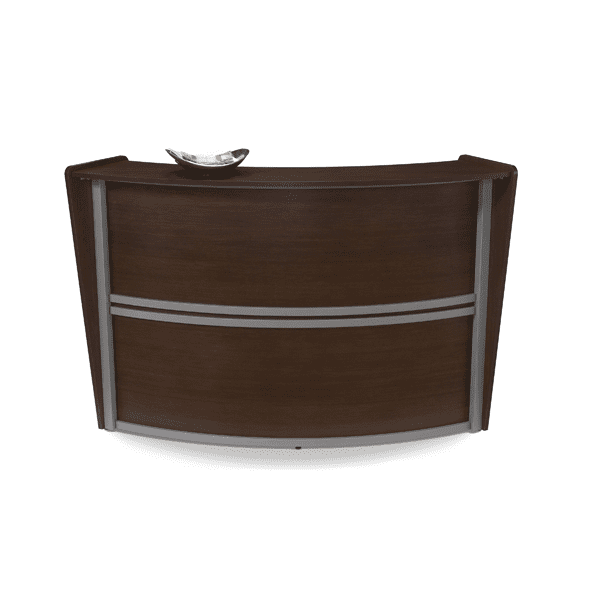 Curved Reception Unit - Walnut