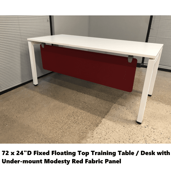 Fixed Training Table with Front Modesty Fabric Screen