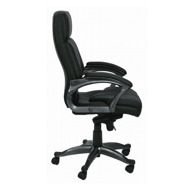 KB-9621-A Charcoal Accent High Back Chair Side View