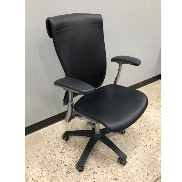 Used Knoll Life Leather Office Chair w/Seat Slider