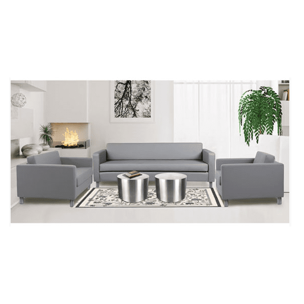 Modern Leather Lounge Seating Group