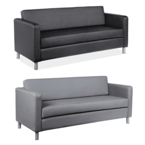 Modern Leather Sofas - 2 Colors - Black or Gray