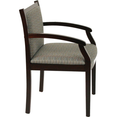 SPOT 1 Wooden Guest Chair in Upgrade Culp Fabric Side