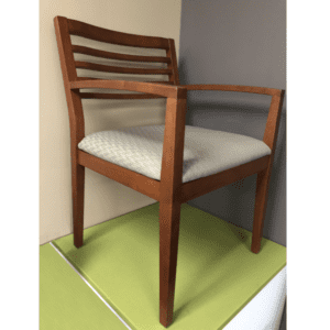 SPOT-2 Cherry Wood Frame Guest Chair in Grade B Fabric