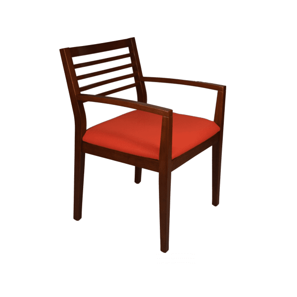 SPOT-2 Cherry Wood Frame Guest Chair in Made to Order Grade B Fabric
