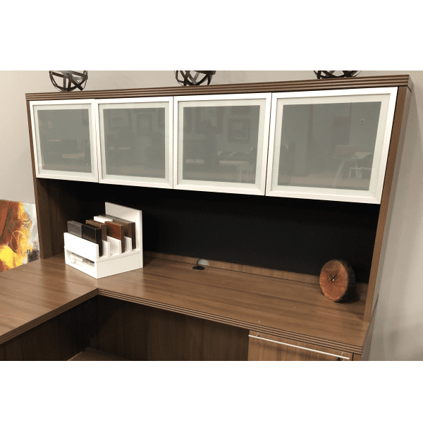 Status Frosted Glass Door Hutch
