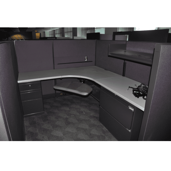 Steelcase Avenir 6 x 7 x 53 Partial Privacy Height Approach View