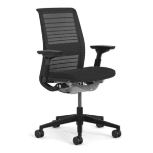 Used Steelcase Think Chair - Black Mesh Back & Black Seat + Black Bars - Main