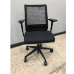 Used Steelcase Think Chair with Mesh Back + Silver Bars - Facing