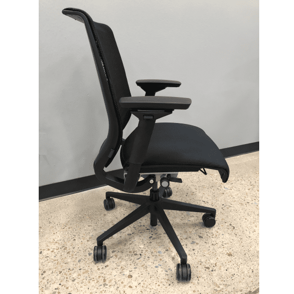 Steelcase Think Chair with Mesh Back + Silver Bars - Side