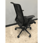 Steelcase Think Chair with Mesh Back + Silver Bars - Side View
