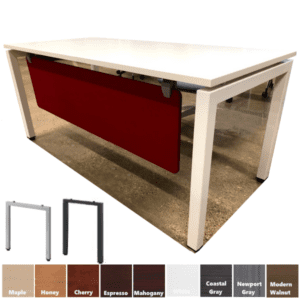 Elements Steel Base Desk with Front Fabric Modesty Panel