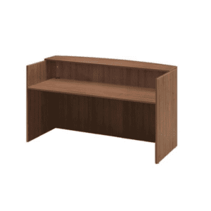 Walnut Reception Desk Shell