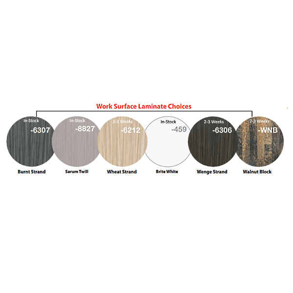 Worksurface Finish Colors & Availability