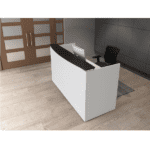 Modern Two-Tone Floating Top Reception Desk