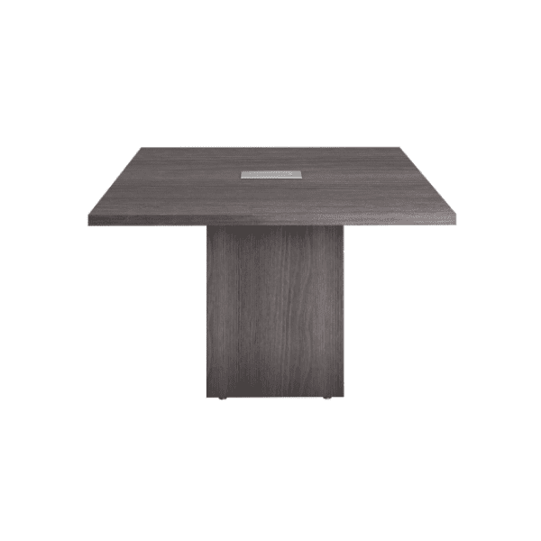 4 x 4 Grey Cubed Base Conference Table