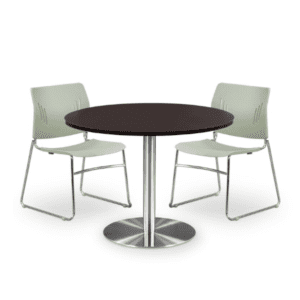 Round Table Brushed Aluminum Base