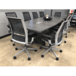 Pre-Owned Steelcase Think Chairs - Gray Leather Seat