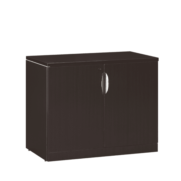 29 Inch High Espresso two - door Storage Cabinet