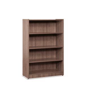 48 Inch Tall 2 Shelf Walnut Bookcase