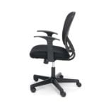 Armless Black Mesh Back 3010 Chair - Side