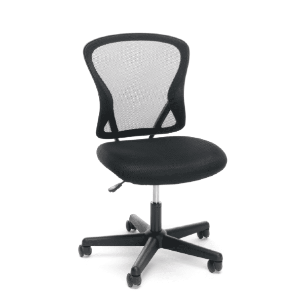 Values Armless Black Mesh Back 3010 Office Chair
