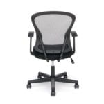Armless Black Mesh Back 3011 Chair - Rear