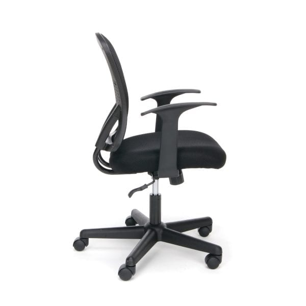 Armless Black Mesh Back 3011 Chair - Side